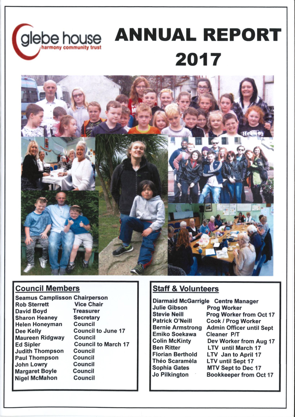 Harmony Community Trust - Glebe House - Annual Report Page